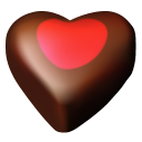 Chocolate Hearts 03 Emoticon