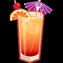Tequila Sunrise Emoticon