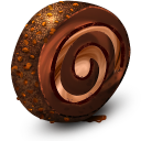 Chocolate Cream Roll Emoticon