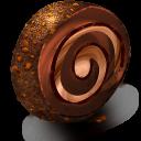 Chocolate Cream Roll Emoticon