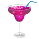 Cocktail Purple Passion Emoticon