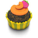 Chocolate Orange Cupcake Emoticon