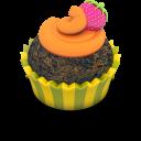 Chocolate Orange Cupcake Emoticon
