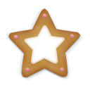 Christmas Cookie Star Emoticon