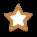 Christmas Cookie Star Emoticon