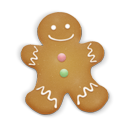 Christmas Cookie Man Emoticon