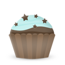 Cupcake Cake Stars Emoticon