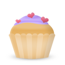 Cupcake Cake Hearts Emoticon