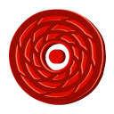 Disc Red Cane Emoticon