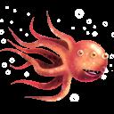 Aqua Monster Emoticon