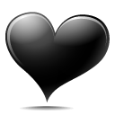 Black Heart Emoticon
