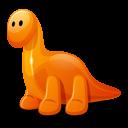 Dino Orange Emoticon