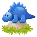 Dino Blue Emoticon