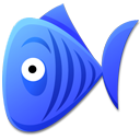 Blue Fish Emoticon
