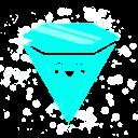 Rave Diamond Blue Emoticon