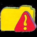 Osd Folder Y Warning Emoticon
