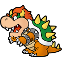 Paper Bowser Emoticon