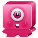 Monster Pink Emoticon