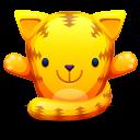 Cat Orange Emoticon