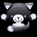 Cat Black White Emoticon