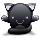 Cat Black Emoticon