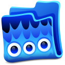 Blue Folder Emoticon