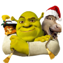 Shrek And Donkey And Puss Emoticon