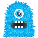 Blue Monster Emoticon