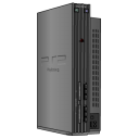 Playstation 2 Standing Silver Emoticon