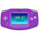 Gameboy Advance Purple Emoticon