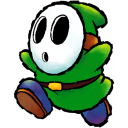 Shyguy Green Emoticon
