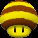 Mushroom Bee Emoticon