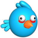 Bird Blue Emoticon