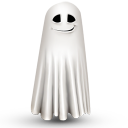 Shy Ghost Emoticon