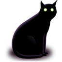 Black Cat Emoticon