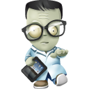 Geek Zombie Emoticon