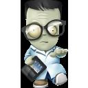 Geek Zombie Emoticon