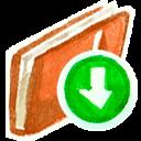 Red Download Emoticon