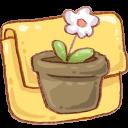 Hp Folder Flowerpot Emoticon