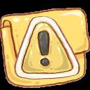 Hp Folder Caution Emoticon