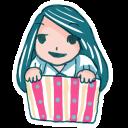 Girl In A Box Emoticon