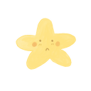 Starry Sad Emoticon