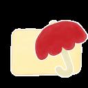 Folder Vanilla Umbrella Emoticon