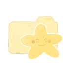 Folder Vanilla Starry Happy Emoticon