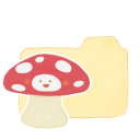 Folder Vanilla Mushroom Emoticon