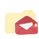 Folder Vanilla Mail Emoticon
