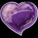 Heart Violet Emoticon