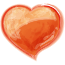 Heart Orange Emoticon