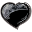 Heart Black Emoticon