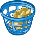 Trash Basket Full Emoticon